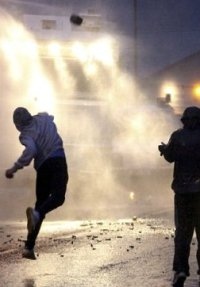 Water Cannon used in Northern Ireland